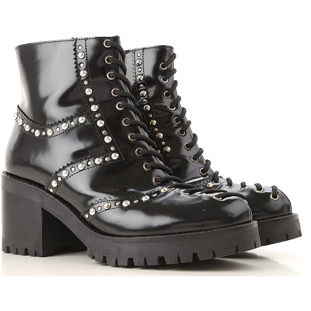 Alexander McQueen McQ Boots for Women, Booties On Sale in Outlet, Black, Leather, 2019, 6 7