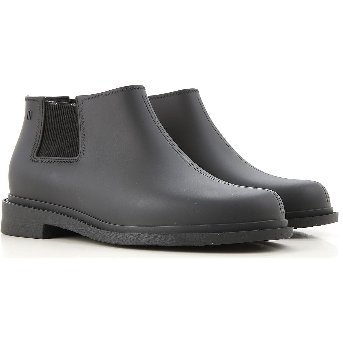 Melissa Boots for Men, Booties, Black, PVC, 2019, 8 9
