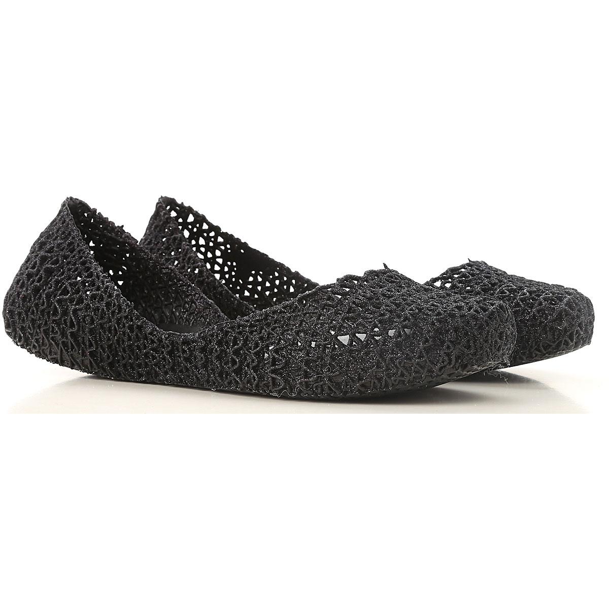 Melissa Ballet Flats Ballerina Shoes for Women On Sale, Melissa / Campana, Black, PVC, 2019, USA 5 - EUR 35/36 US 9 (EU 39) USA 6 - EUR 37 USA 7 - EUR