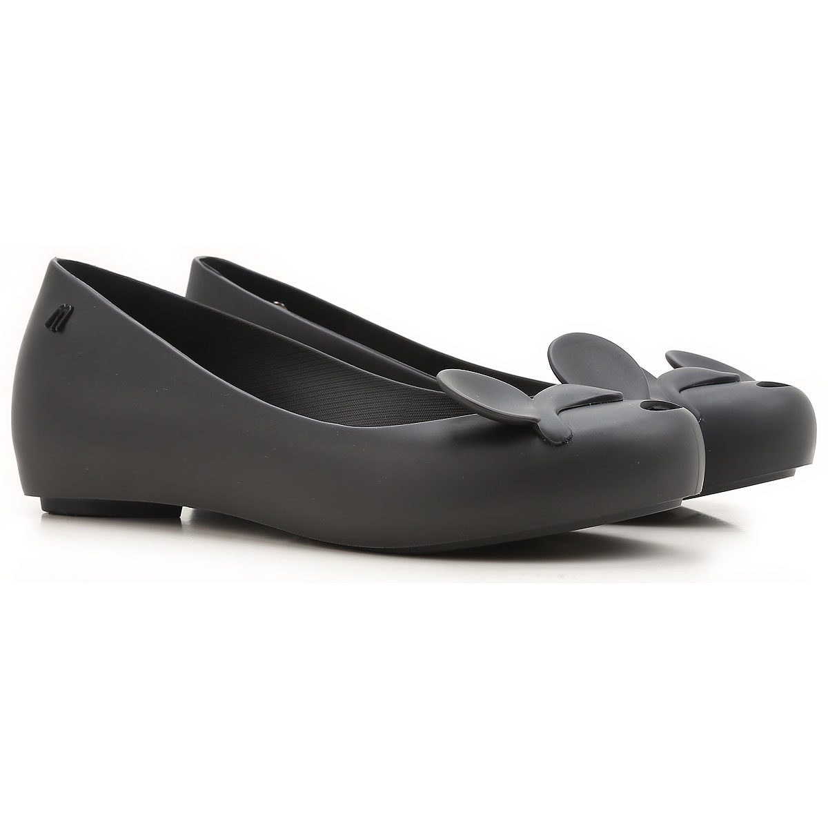 Melissa Ballet Flats Ballerina Shoes for Women On Sale in Outlet, Melissa Mickey, Black, PVC, 2019, USA 5 - EUR 35/36 USA 6 - EUR 37