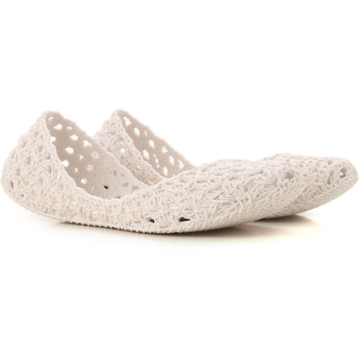 Melissa Ballet Flats Ballerina Shoes for Women On Sale, Melissa / Campana, Optical White, PVC, 2019, 9