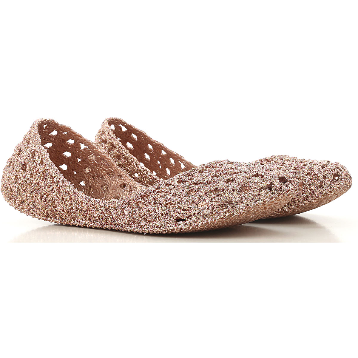 Melissa Ballet Flats Ballerina Shoes for Women On Sale, Melissa / Campana, Glitter Pink, PVC, 2019, USA 5 - EUR 35/36 USA 6 - EUR 37 USA 7 - EUR 38 US