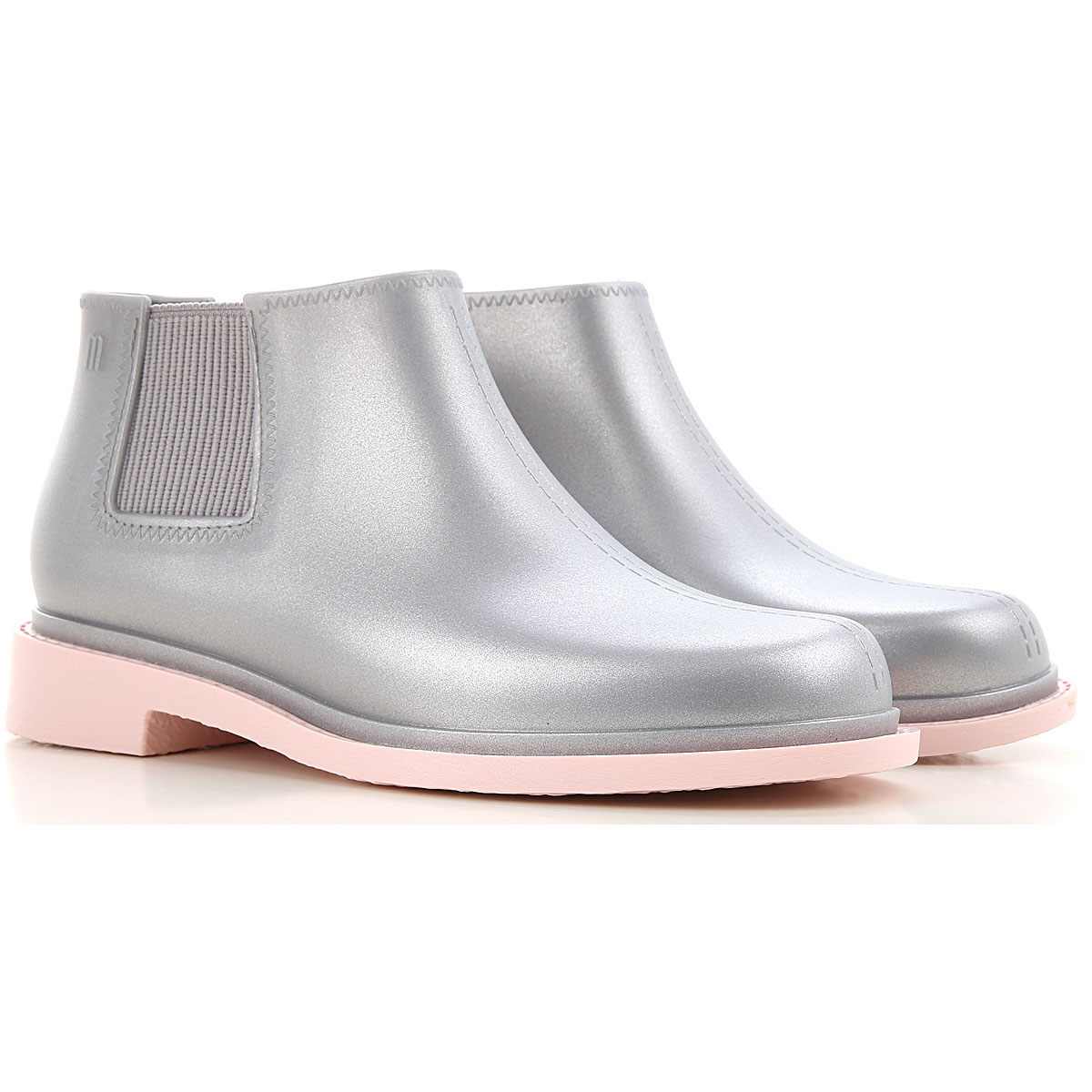 Melissa Boots for Women, Booties On Sale, Silver, PVC, 2019, USA 5 - EUR 35/36 USA 6 - EUR 37 USA 7 - EUR 38 USA 8 - EUR 39