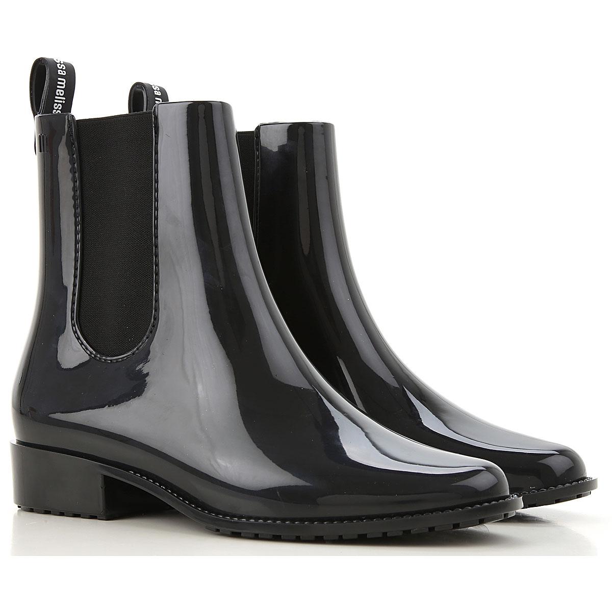 Melissa Boots for Women, Booties On Sale, Black, PVC, 2019, USA 8 - EUR 39 USA 9 - EUR 40 USA 10 - EUR 41/42