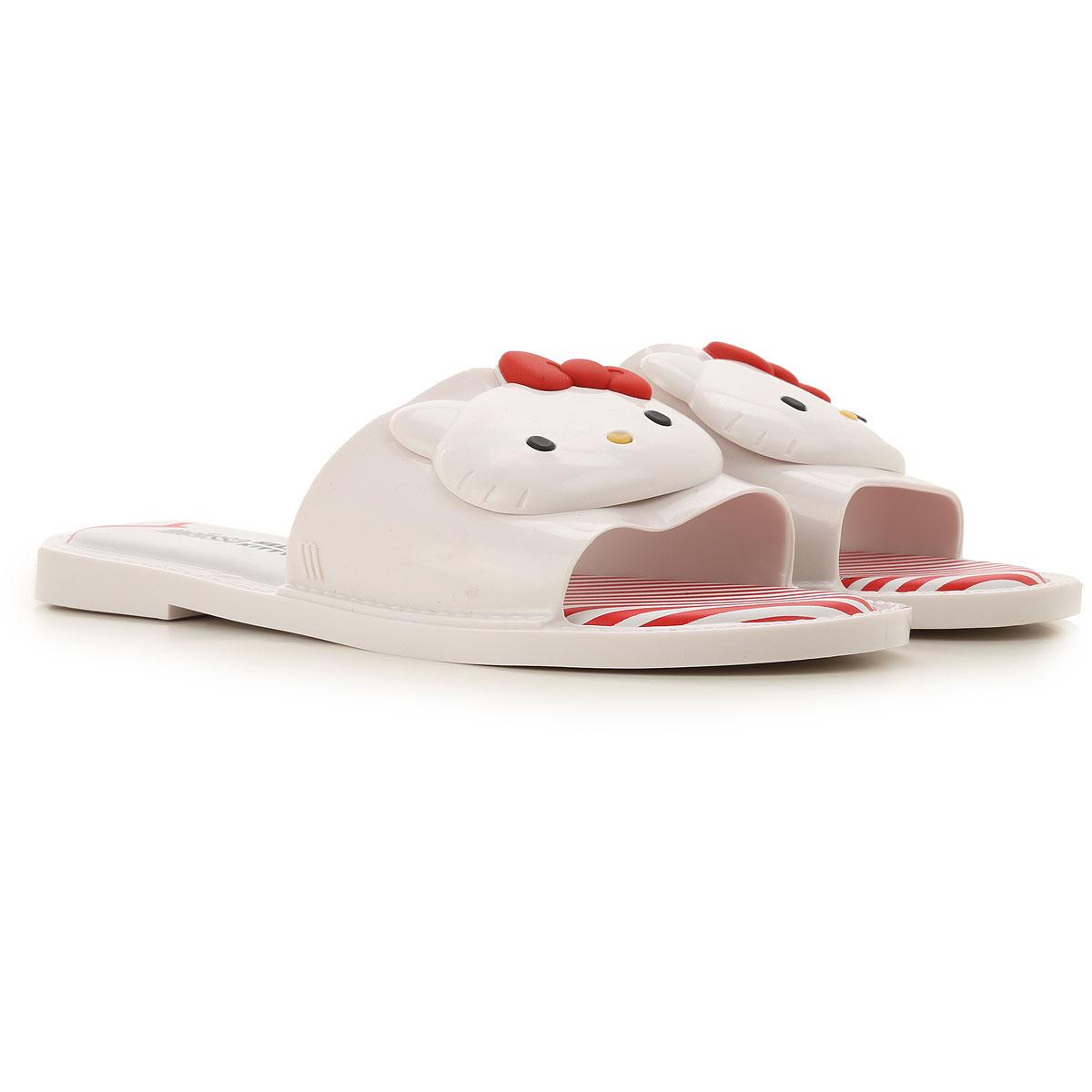 Melissa Sandals for Women On Sale, Melissa + Hello Kitty, White, PVC, 2019, USA 5 - EUR 35/36 USA 7 - EUR 38 USA 8 - EUR 39 USA 9 - EUR 40 USA 10 - EU