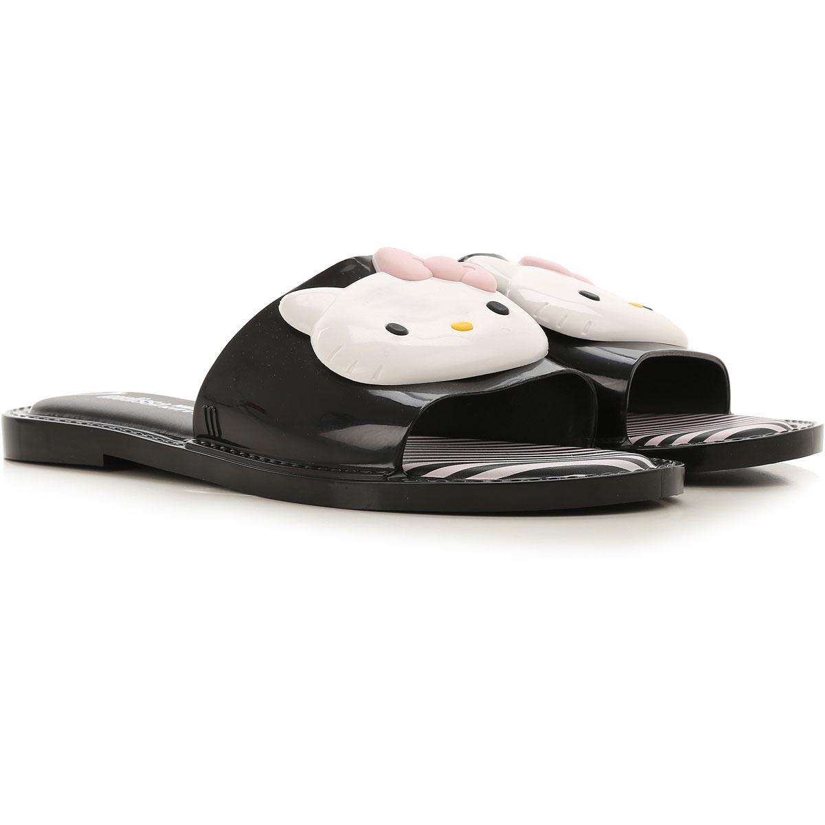 Melissa Sandals for Women On Sale, Melissa + Hello Kitty, Black, PVC, 2019, USA 5 - EUR 35/36 USA 6 - EUR 37 USA 7 - EUR 38 USA 8 - EUR 39 USA 9 - EUR