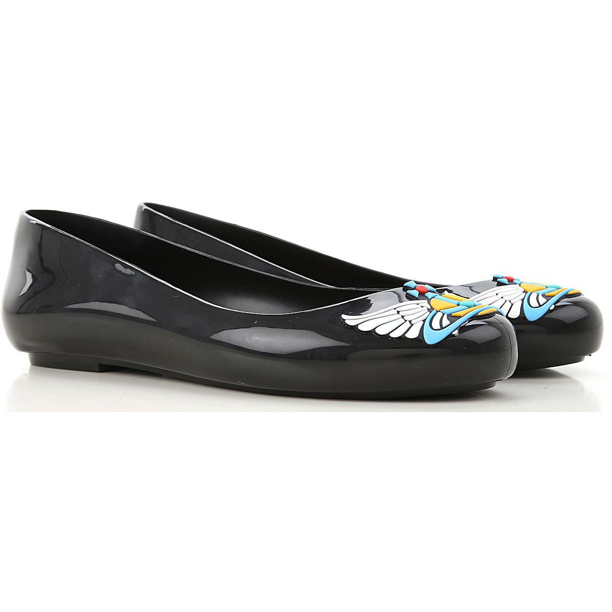 Melissa Ballet Flats Ballerina Shoes for Women On Sale, Black, PVC, 2019, USA 5 - EUR 35/36 USA 6 - EUR 37 USA 7 - EUR 38 USA 8 - EUR 39 USA 9 - EUR 4