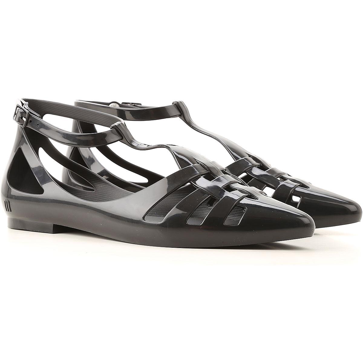 Melissa Sandals for Women On Sale, Black, PVC, 2019, USA 5 - EUR 35/36 USA 6 - EUR 37 USA 7 - EUR 38 USA 8 - EUR 39 USA 9 - EUR 40