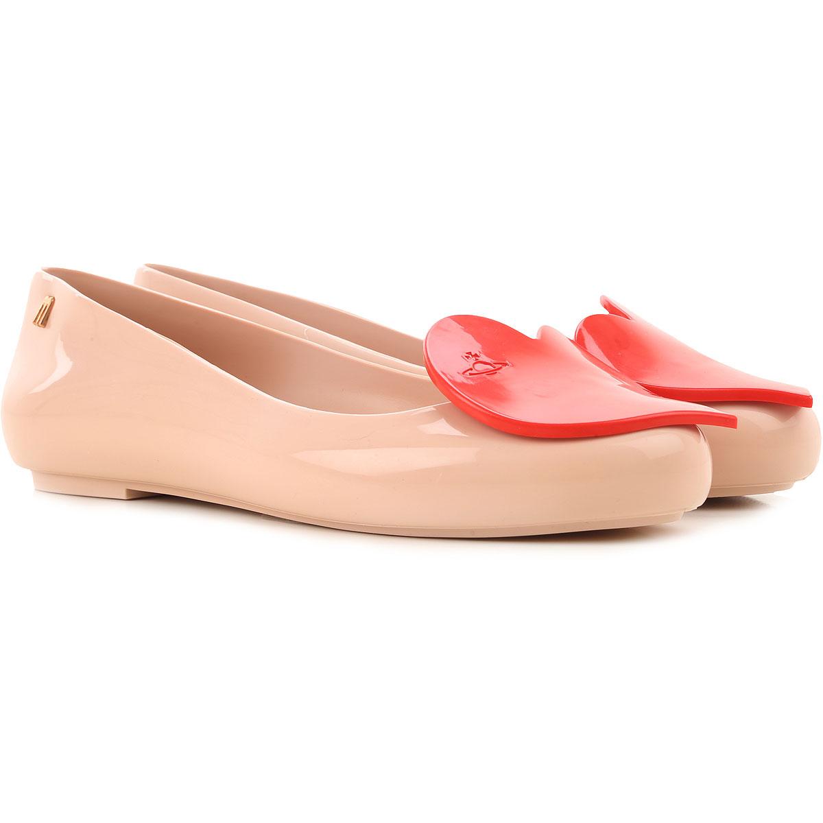 Melissa Ballet Flats Ballerina Shoes for Women On Sale, Light Pink, PVC, 2019, USA 5 - EUR 35/36 USA 6 - EUR 37 USA 7 - EUR 38 USA 8 - EUR 39 USA 9 -