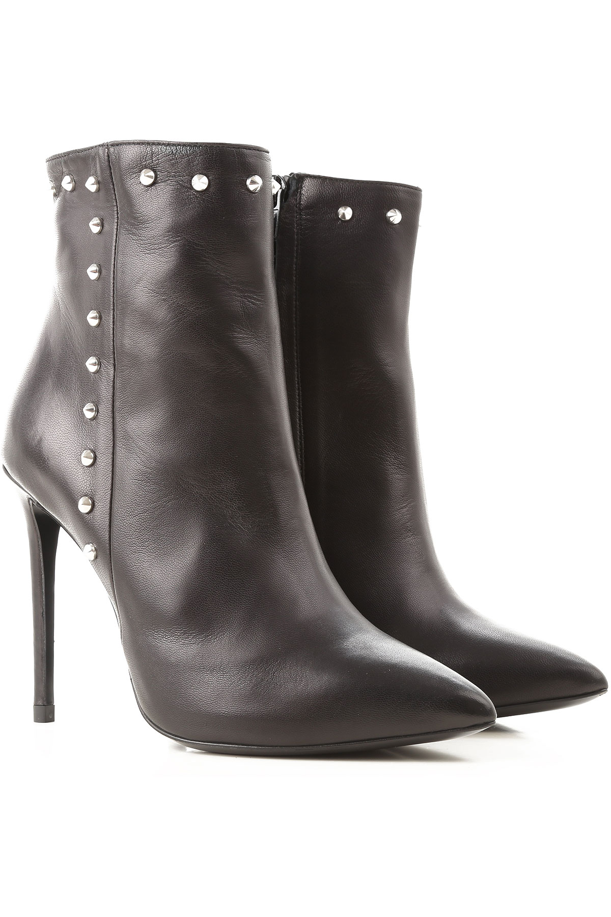 Image of Marc Ellis Boots for Women, Booties, Black, Leather, 2017, 10 6 7 8 9