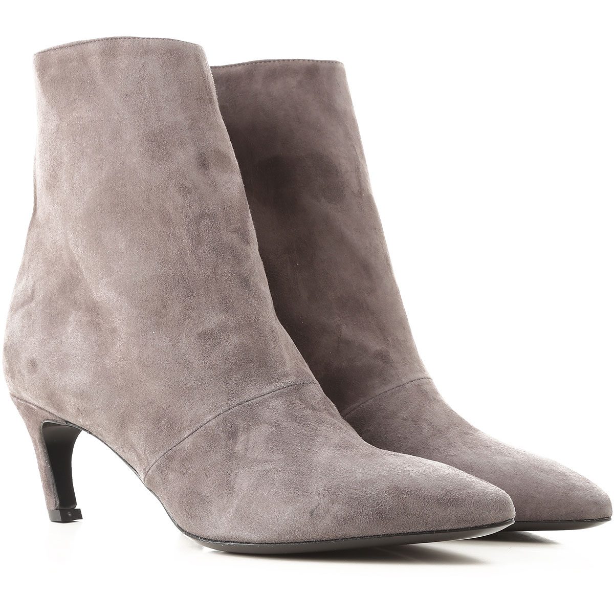 Image of Marc Ellis Boots for Women, Booties, Asphalt Grey, Suede leather, 2017, 10 6 7 8 9