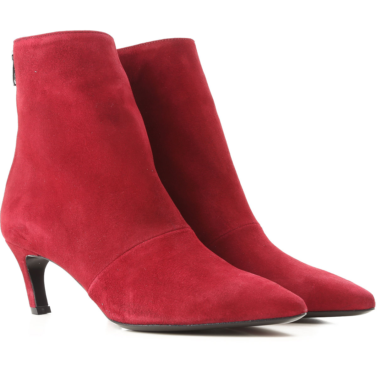 Image of Marc Ellis Boots for Women, Booties, Rubin Red, Suede leather, 2017, 10 6 7 8 9