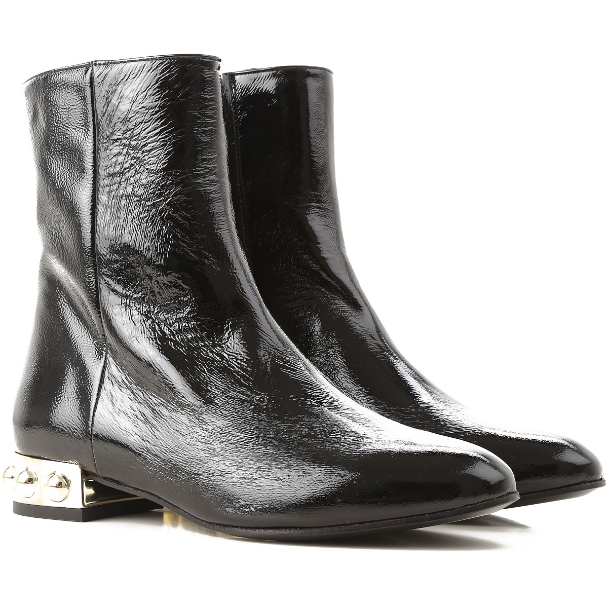 Image of Marc Ellis Boots for Women, Booties, Black, Patent Leather, 2017, 10 6 7 8 9
