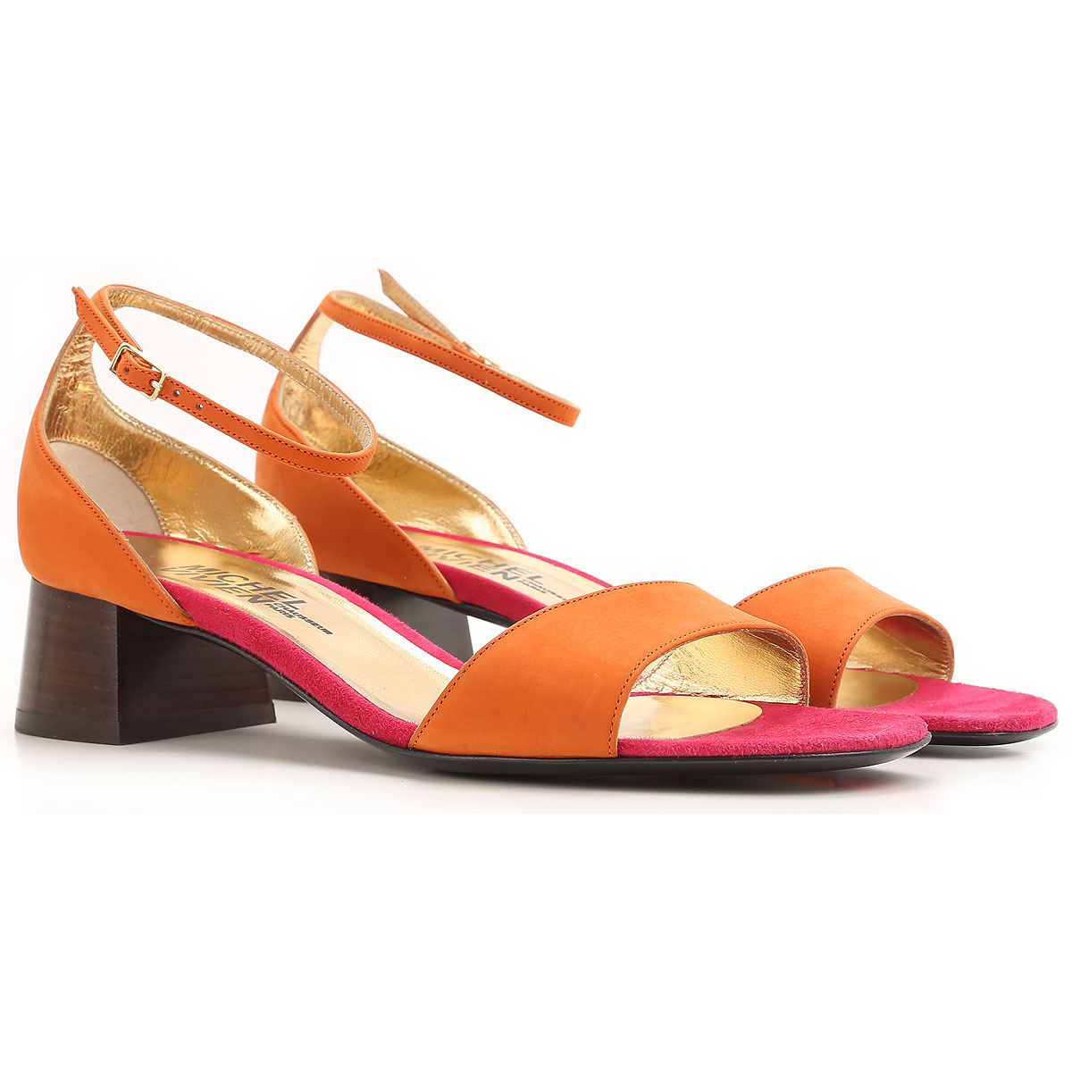 Michel Vivien Sandals for Women On Sale in Outlet, Orange, Suede leather, 2019, 10 6 8