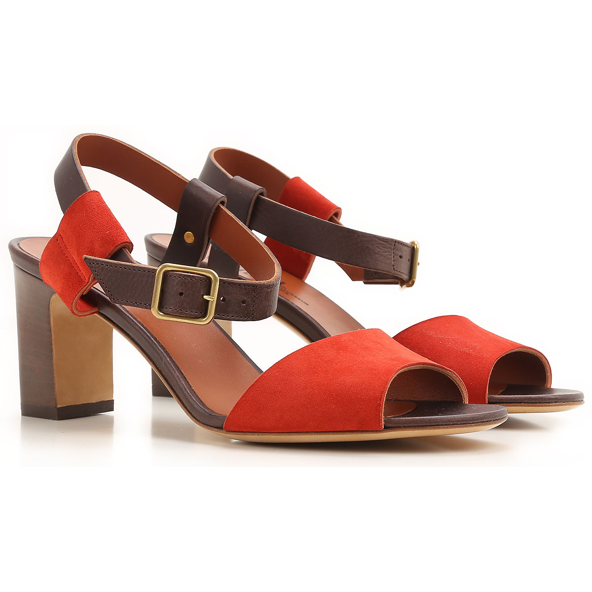 Michel Vivien Sandals for Women On Sale in Outlet, Red, Suede leather, 2019, 10 6 8 8.5