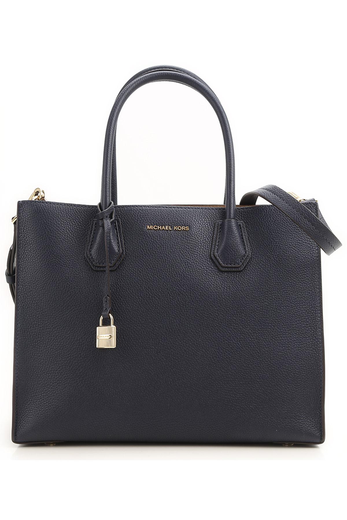 Michael Kors Top Handle Handbag, Admiral Blue, Leather, 2019