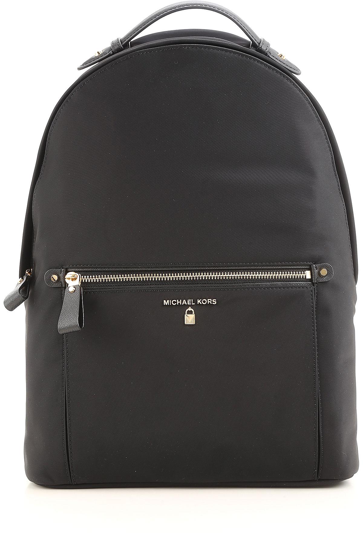 Image of Michael Kors Backpack for Women, Black, Nylon, 2017