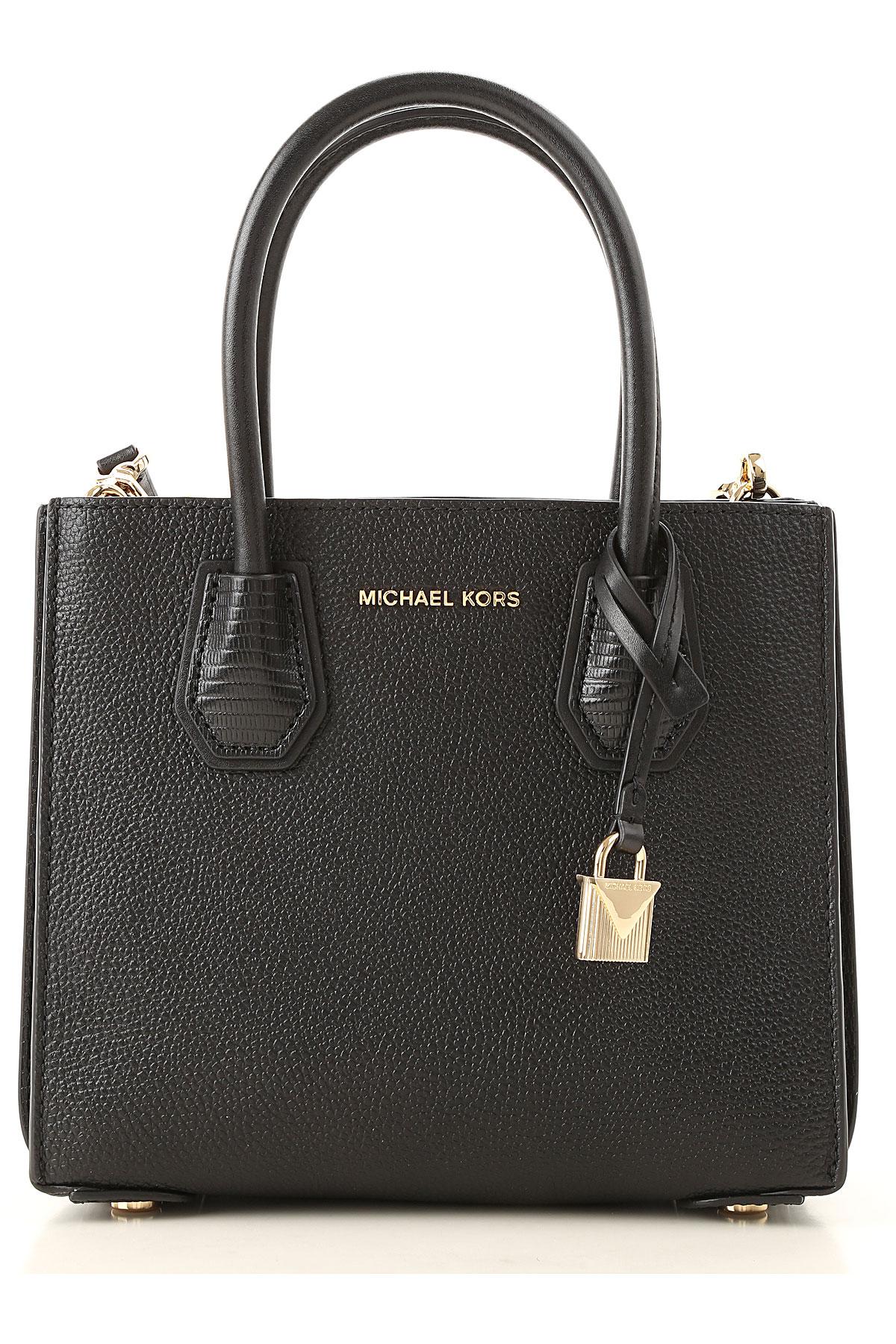 Michael Kors Tote Bag, Black, Leather, 2019