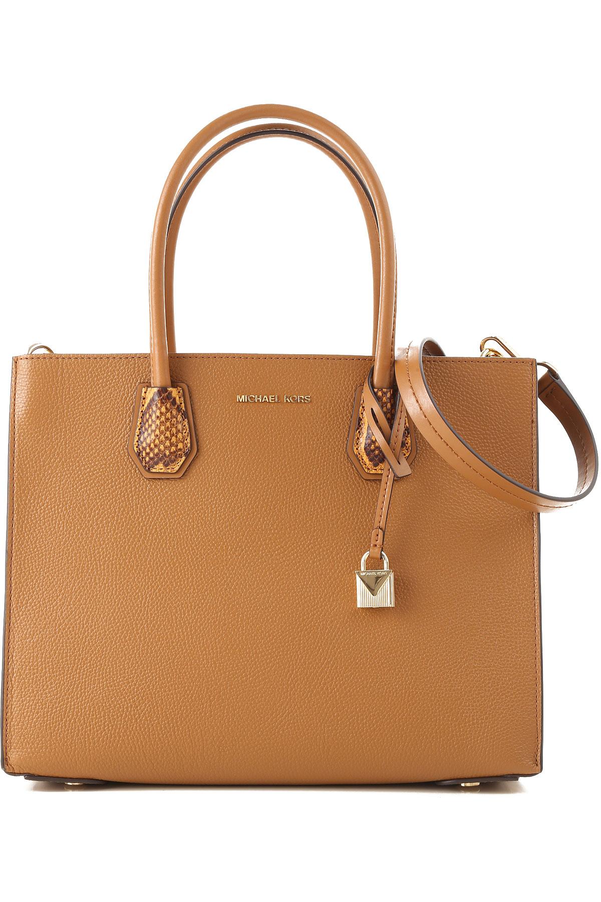Michael Kors Top Handle Handbag, Acorn, Leather, 2019
