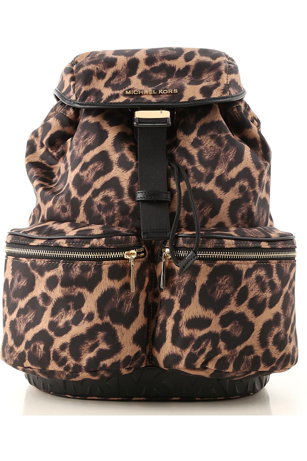 Michael Kors Backpack for Women On Sale, Spotted Brown, Nylon, 2019