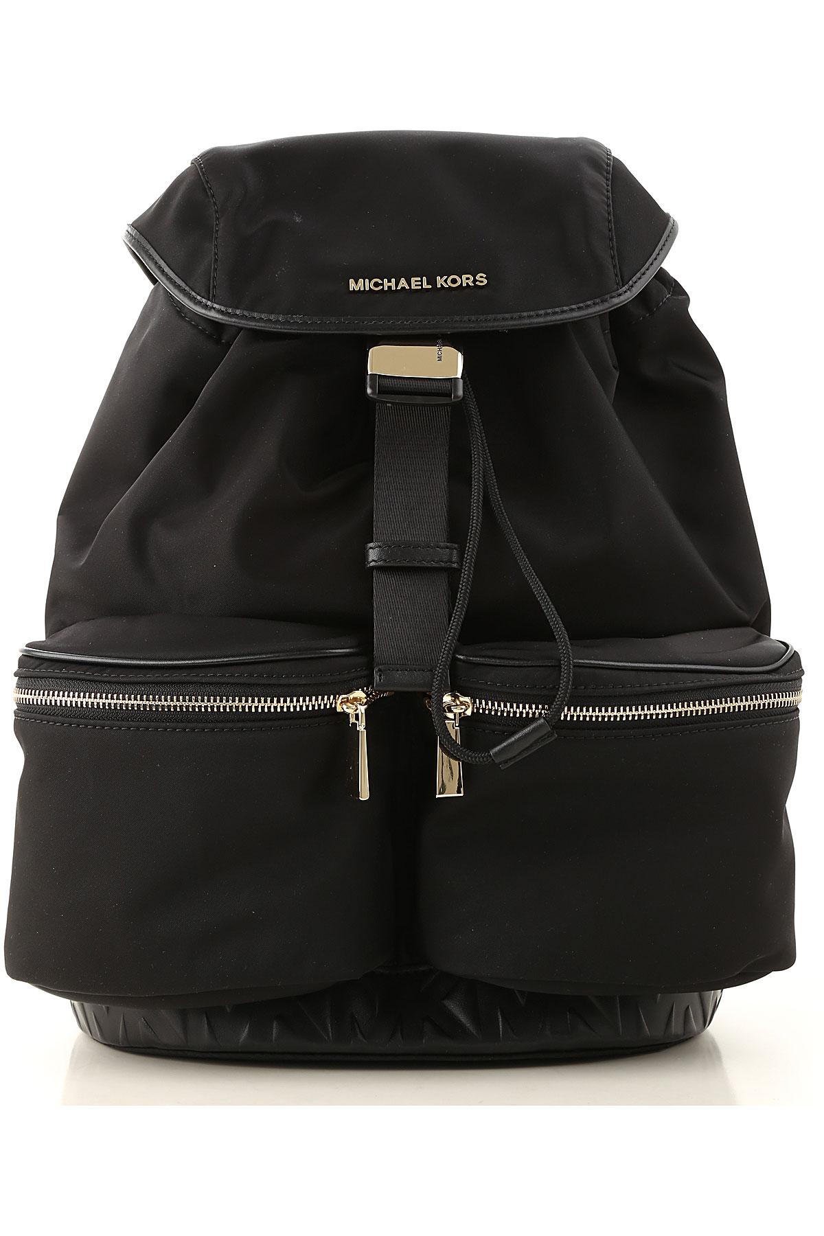 Michael Kors Backpack for Women On Sale, Black, Nylon, 2019