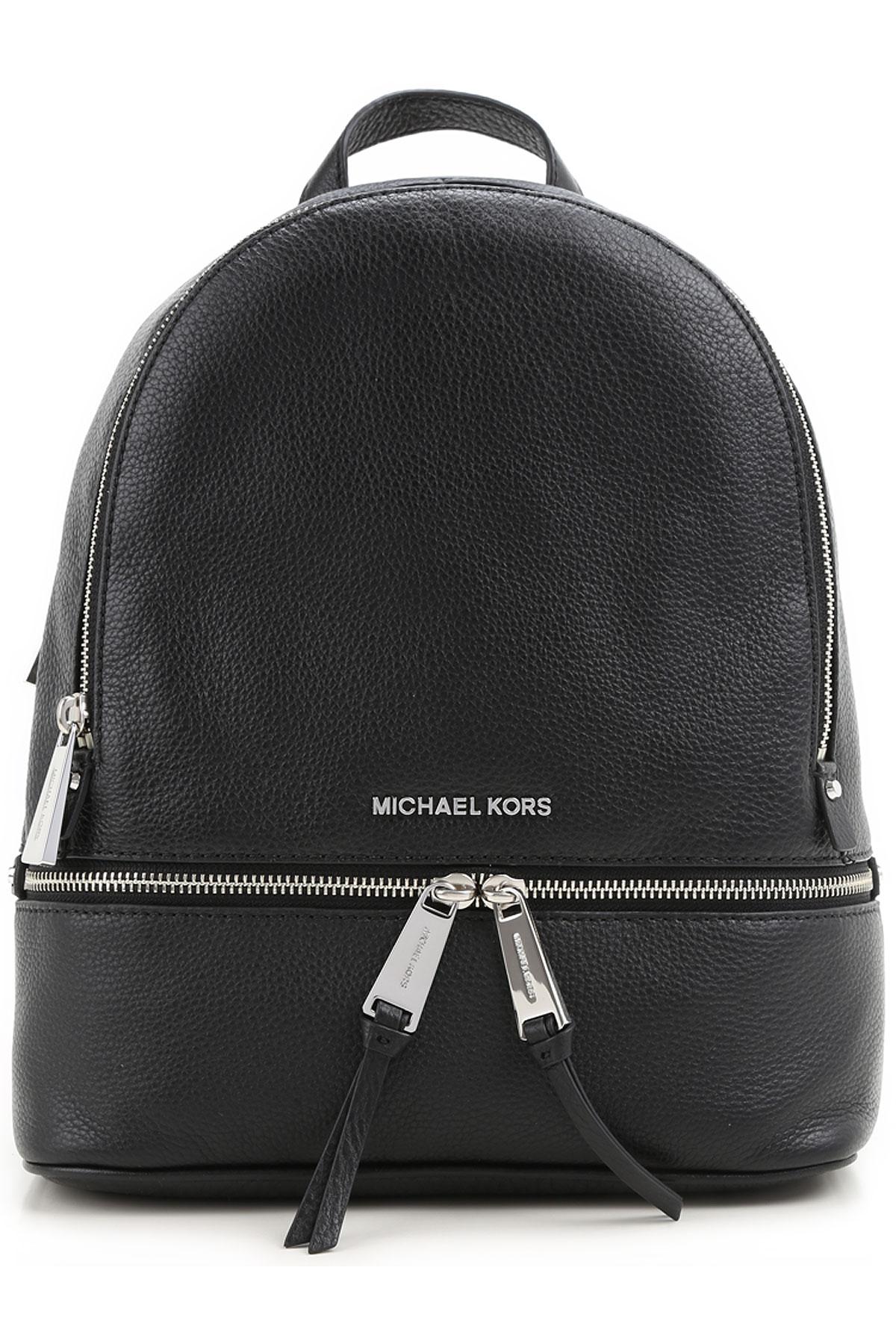 Michael Kors Backpack for Women, Black, Leather, 2019