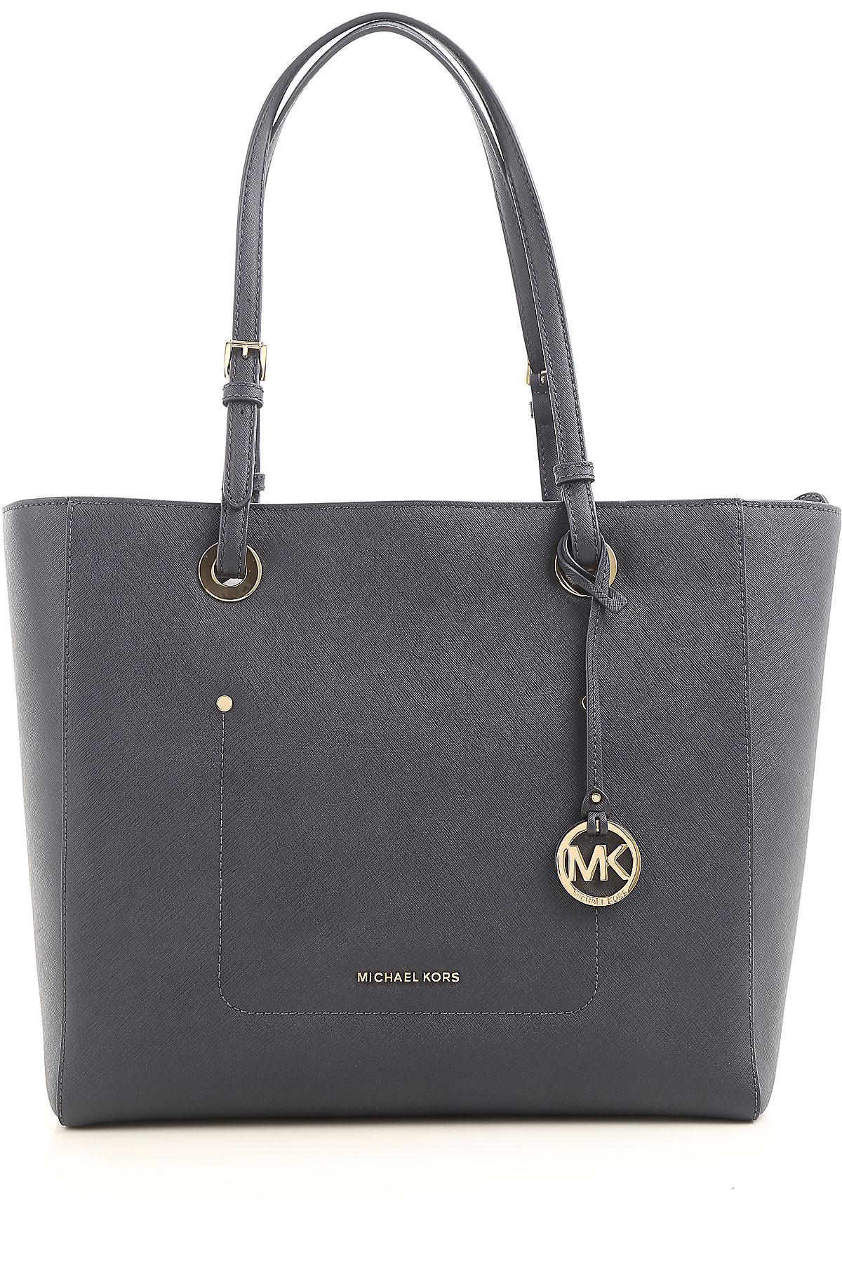 Michael Kors Tote Bag On Sale, Admiral Blue, Leather, 2017