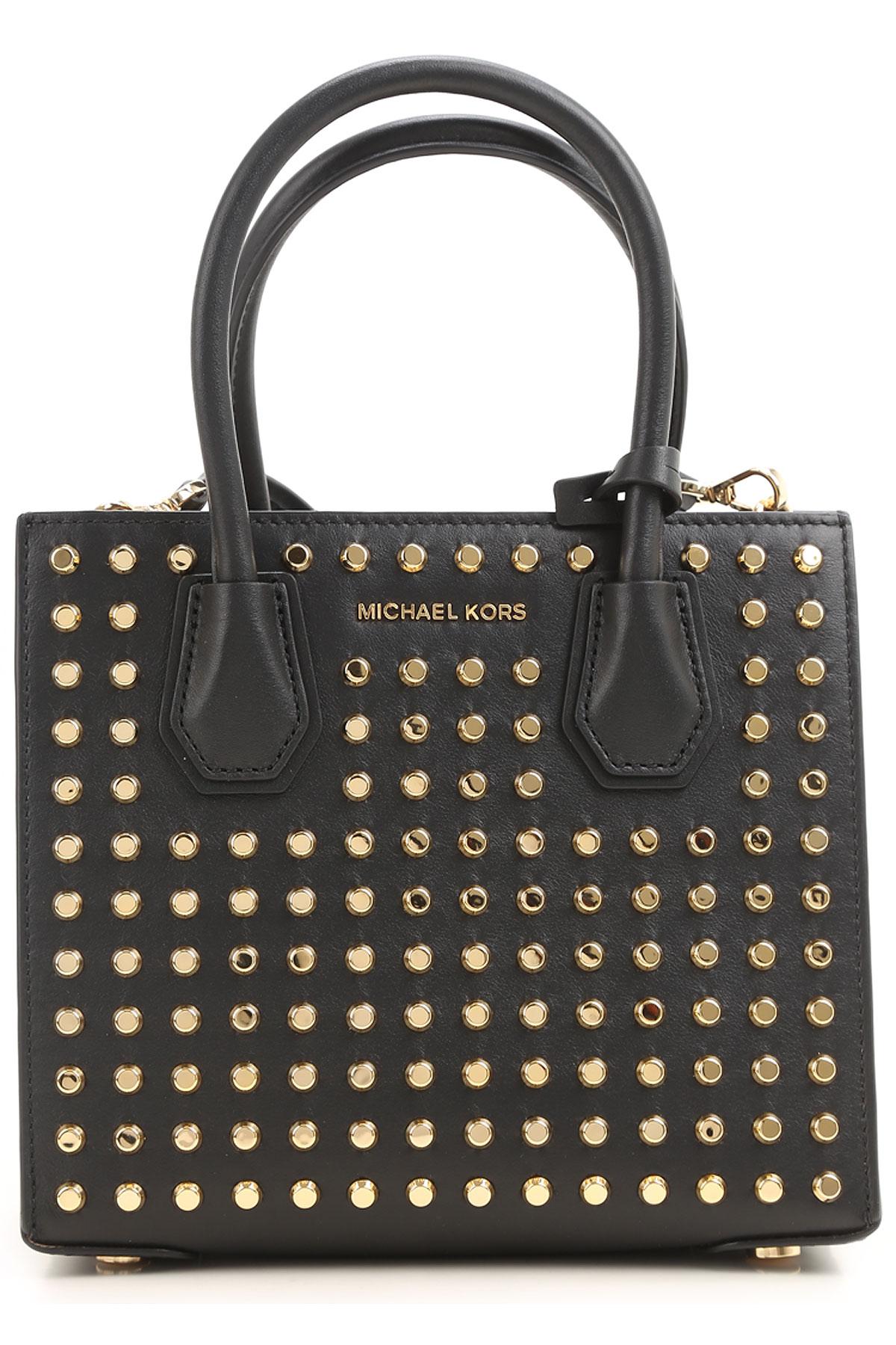 Michael Kors Shoulder Bag for Women On Sale, Black, Leather, 2017