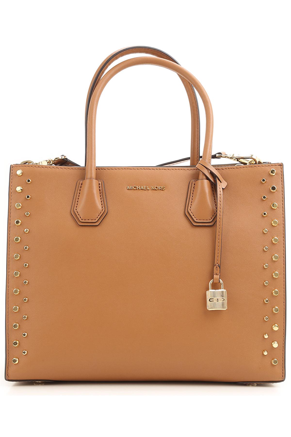 Michael Kors Top Handle Handbag, Acorn, Leather, 2017