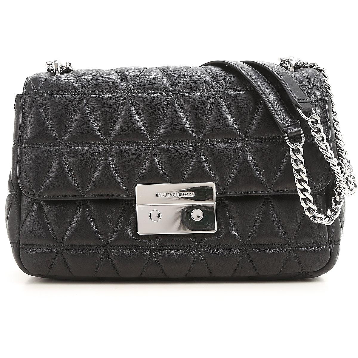 Michael Kors Shoulder Bag for Women, Sloan, Black, Leather, 2019