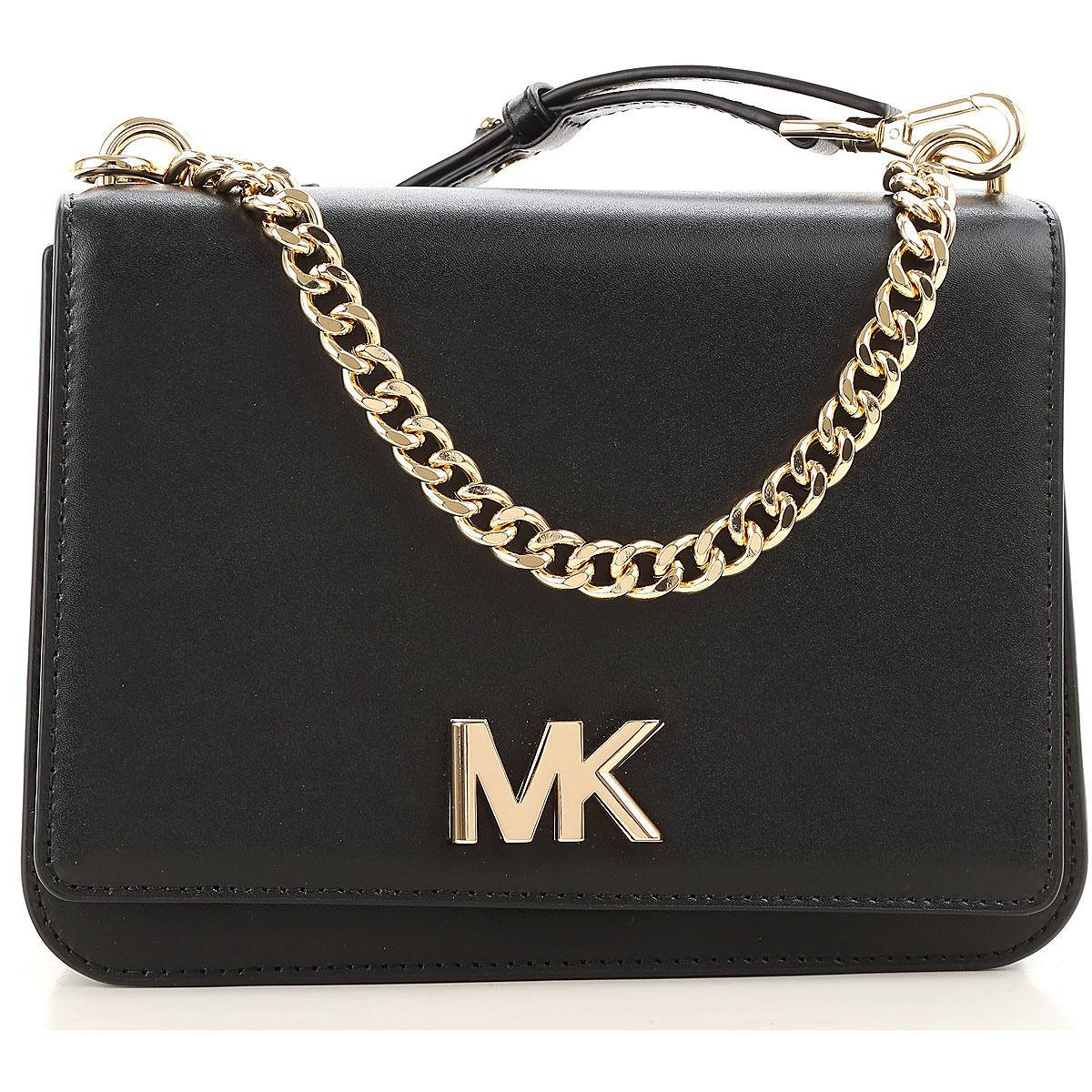 Michael Kors Shoulder Bag for Women, Black, Leather, 2019