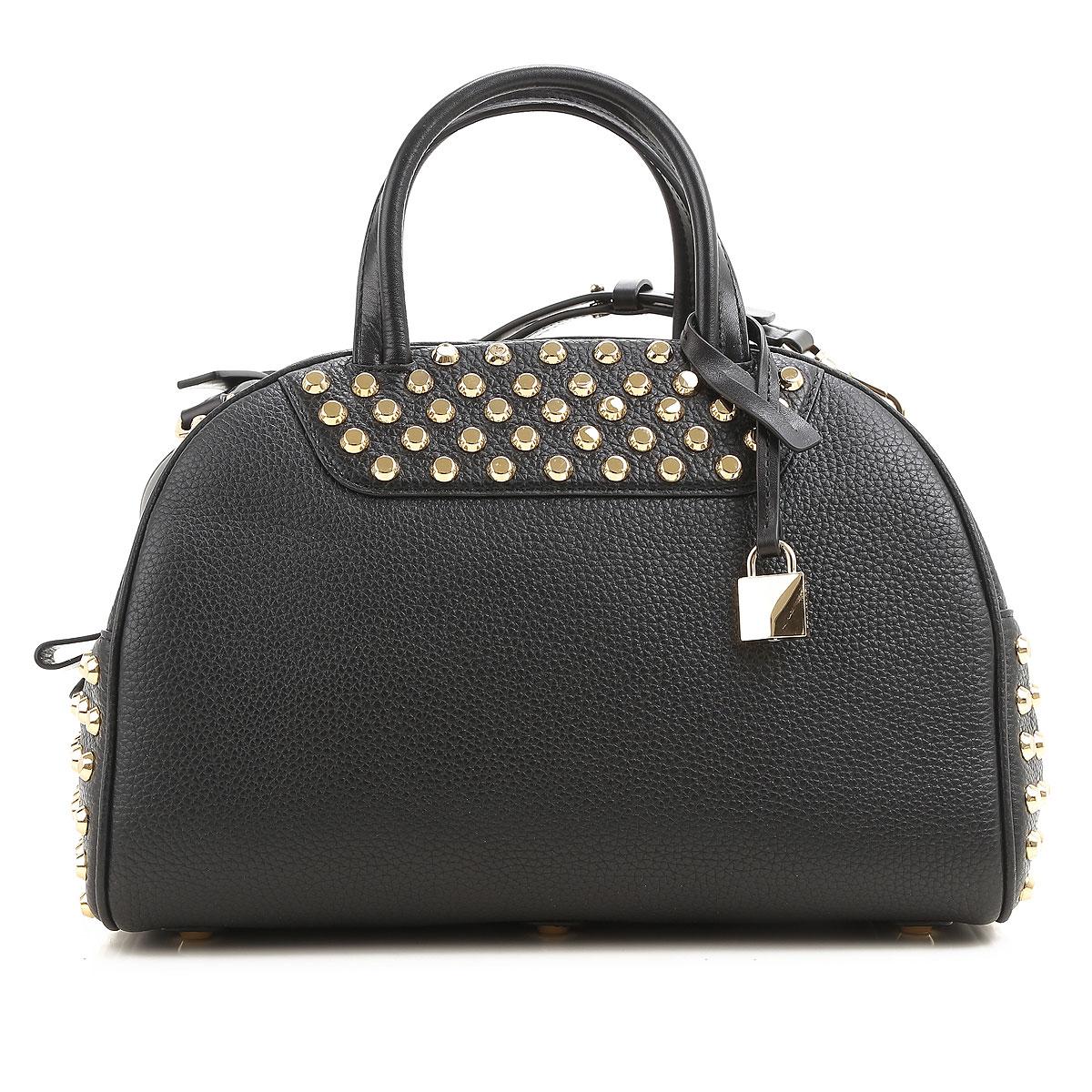 Michael Kors Top Handle Handbag On Sale, Black, Leather, 2017