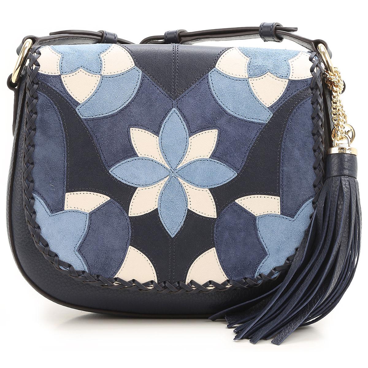 Michael Kors Shoulder Bag for Women On Sale, Admiral Blue, Leather, 2017