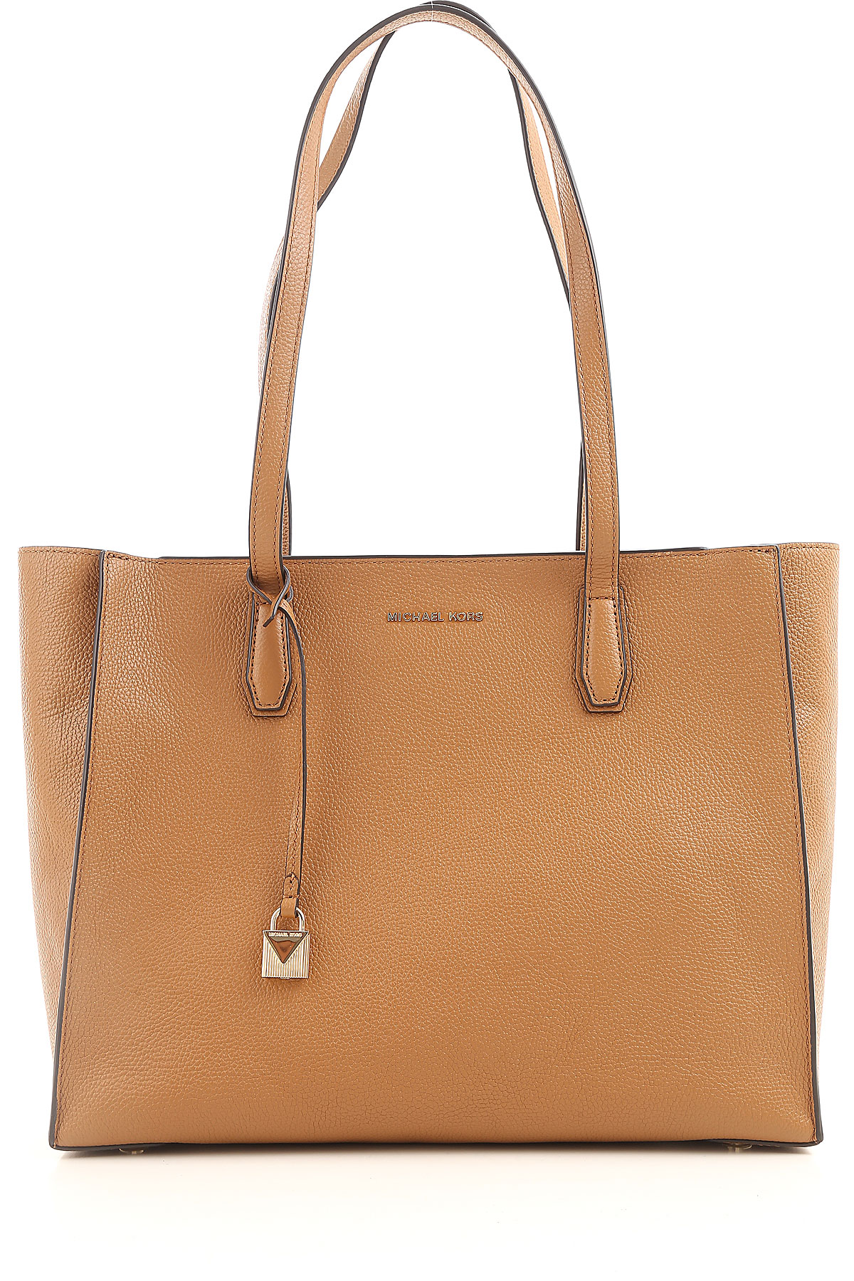 Michael Kors Tote Bag On Sale, brown leather, Leather, 2017