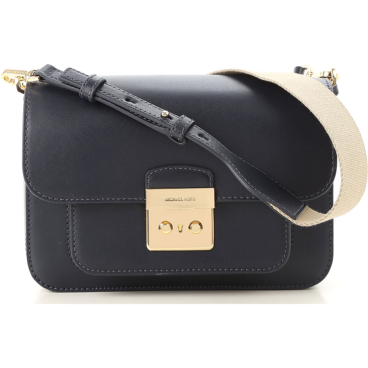 Michael Kors Women\s Pouch, navy, Leather, 2019