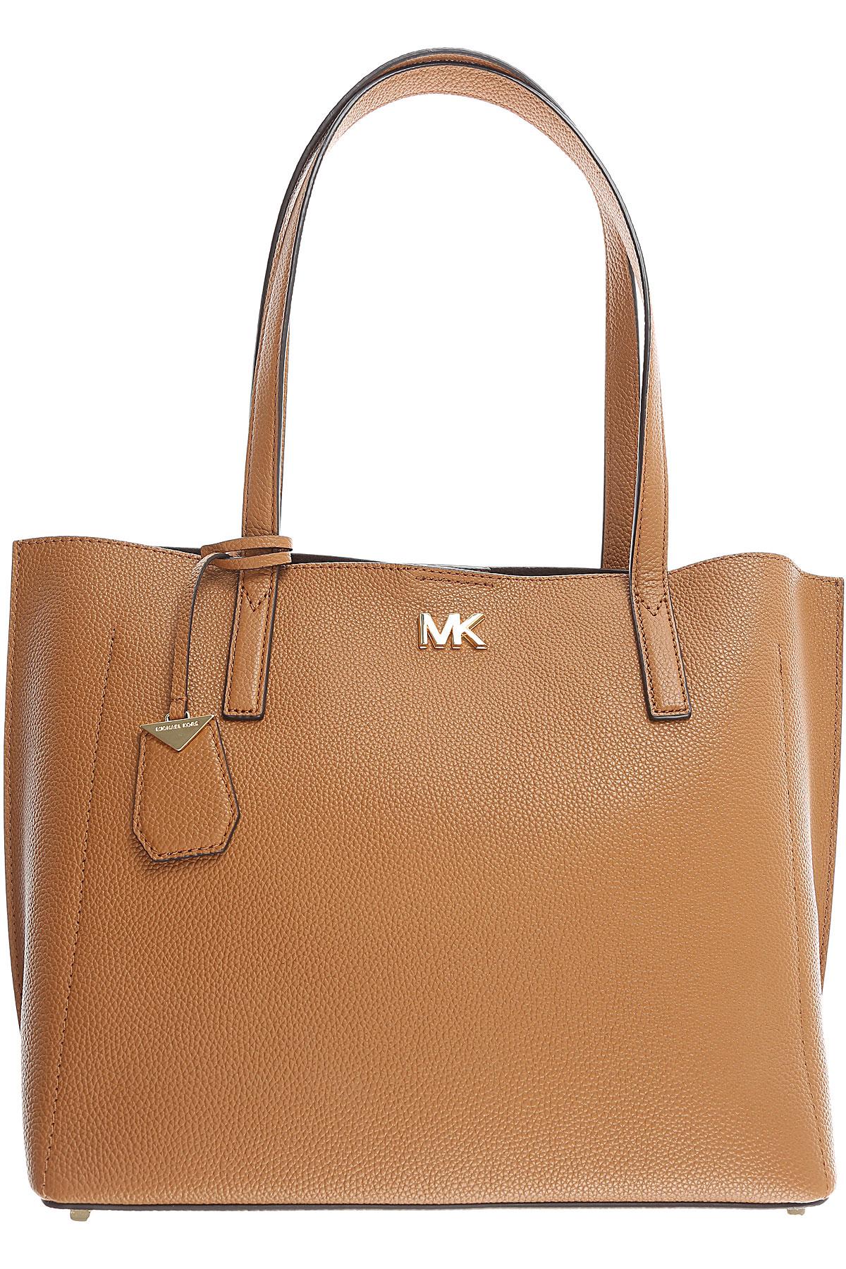 Michael Kors Tote Bag, Acorn, Leather, 2019