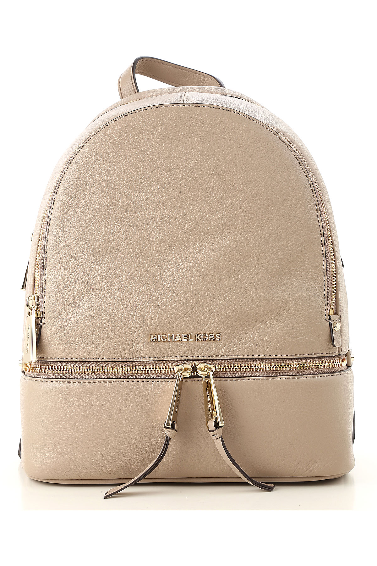 Image of Michael Kors Backpack for Women, Truffle, Leather, 2017