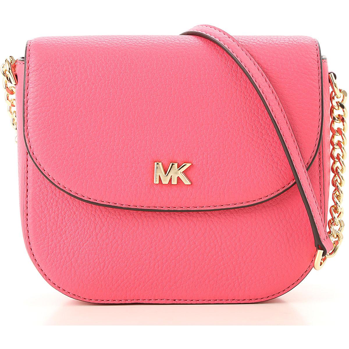 Michael Kors Shoulder Bag for Women, Rose Pink, Leather, 2019