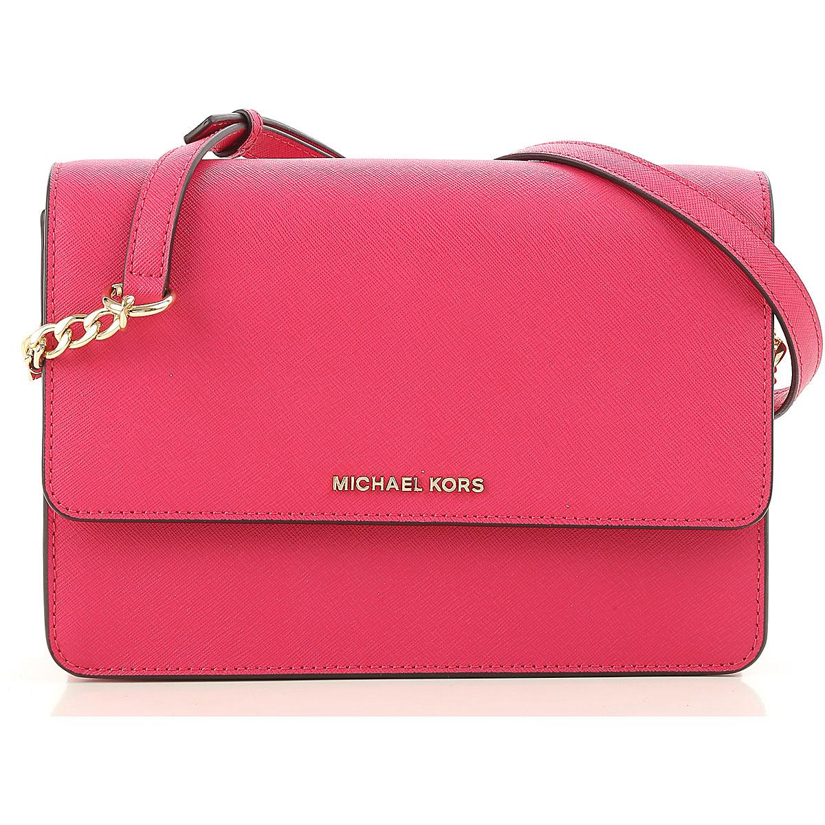 Michael Kors Shoulder Bag for Women, Ultra Pink, Leather, 2019