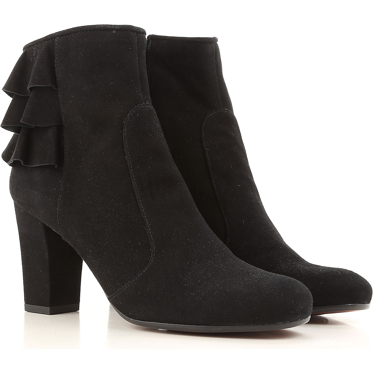 Image of Chie Mihara Boots for Women, Booties On Sale in Outlet, Black, suede, 2017, 6 7