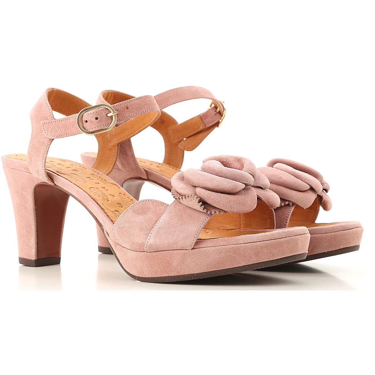 Chie Mihara Sandals for Women On Sale in Outlet, Vintage Pink, Suede leather, 2019, 6 7