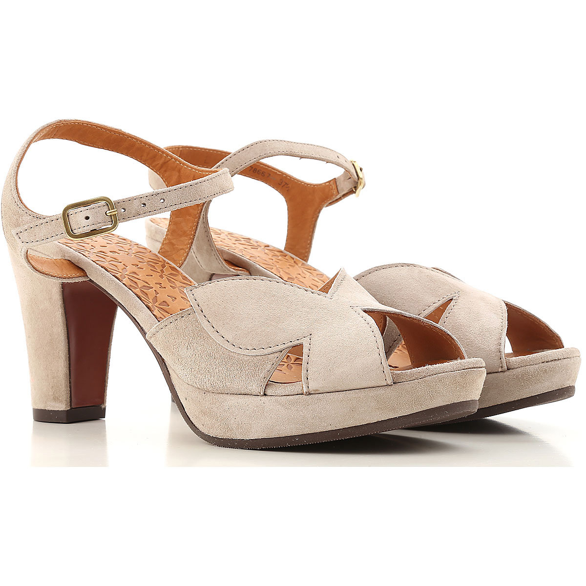 Image of Chie Mihara Sandals for Women On Sale, Sand, suede, 2017, 6 8.5