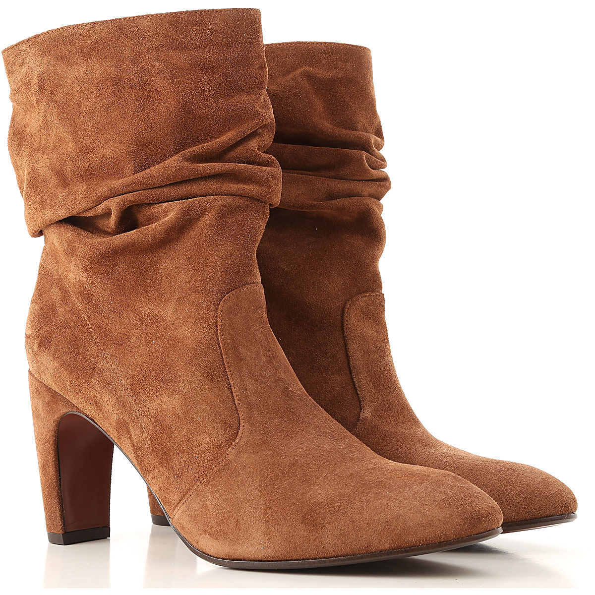 Image of Chie Mihara Boots for Women, Booties, Brown, Suede leather, 2017, 6 7 8 9