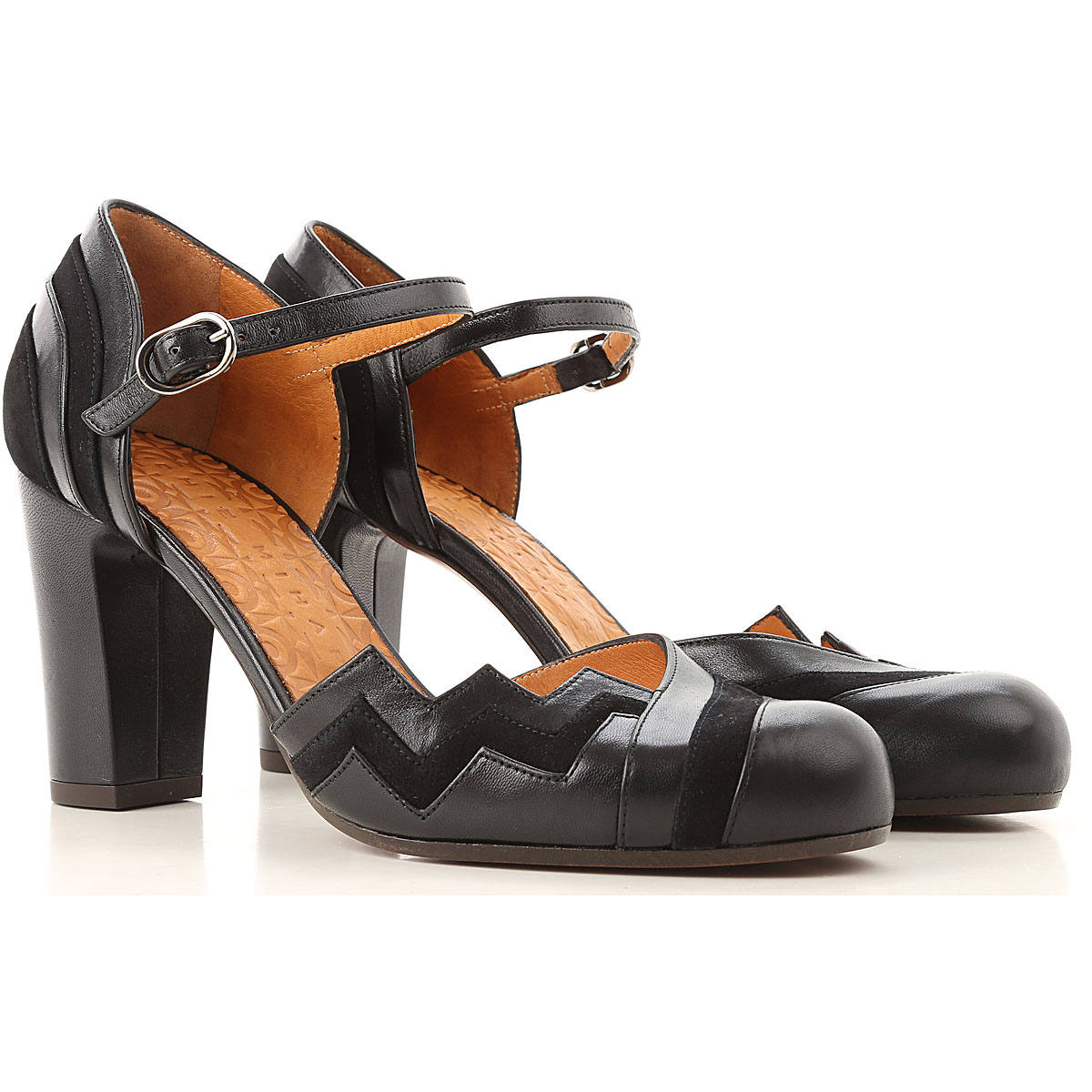 Image of Chie Mihara Sandals Heeled Womens, Black, Leather, 2017, 6 7 8 9
