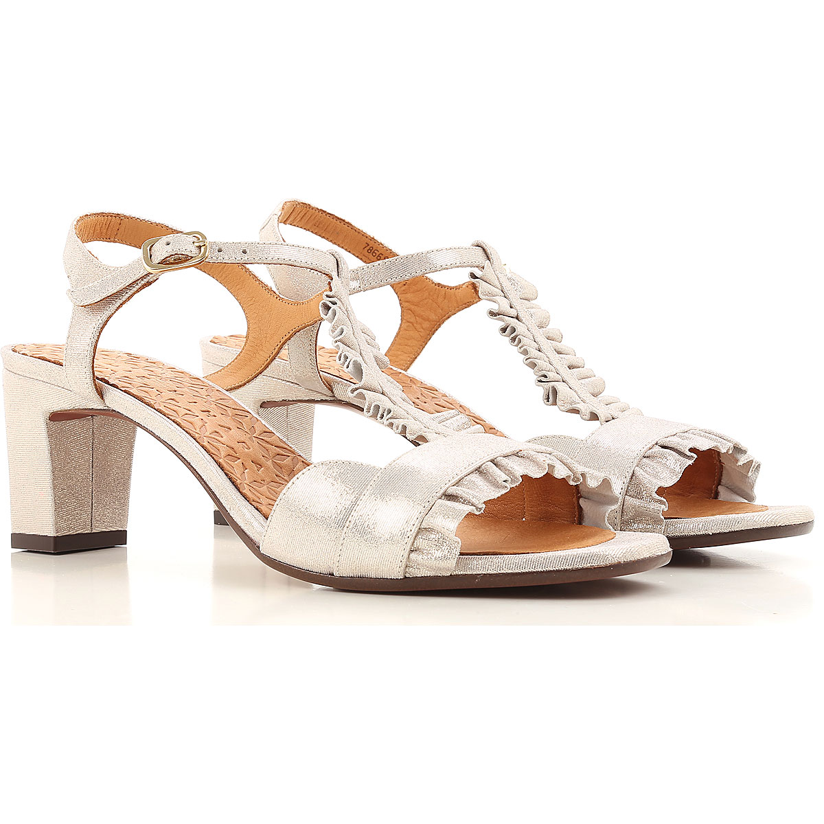 Image of Chie Mihara Sandals for Women On Sale, Silver, Leather, 2017, 6.5 8 8.5 9