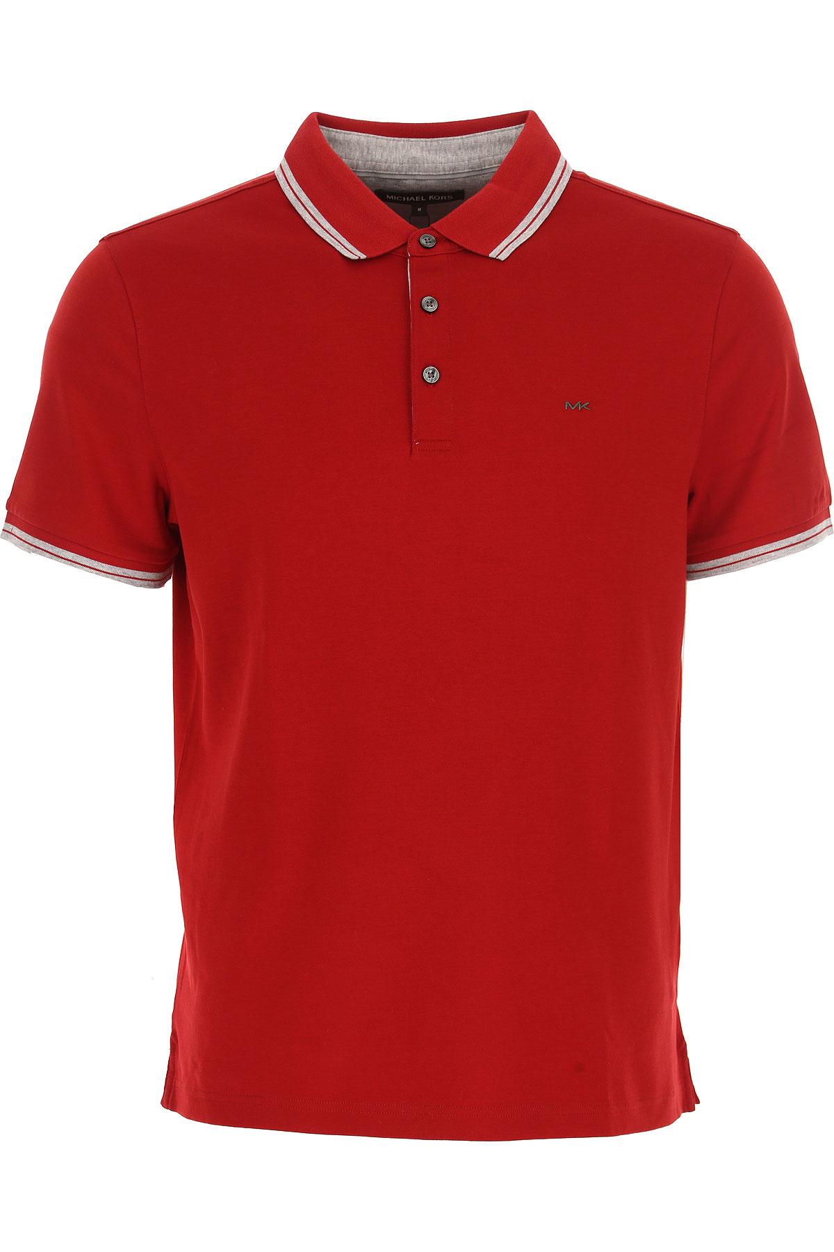 Michael Kors Polo Shirt for Men, Dark Red, Cotton, 2017, L M S XL XS USA-451279