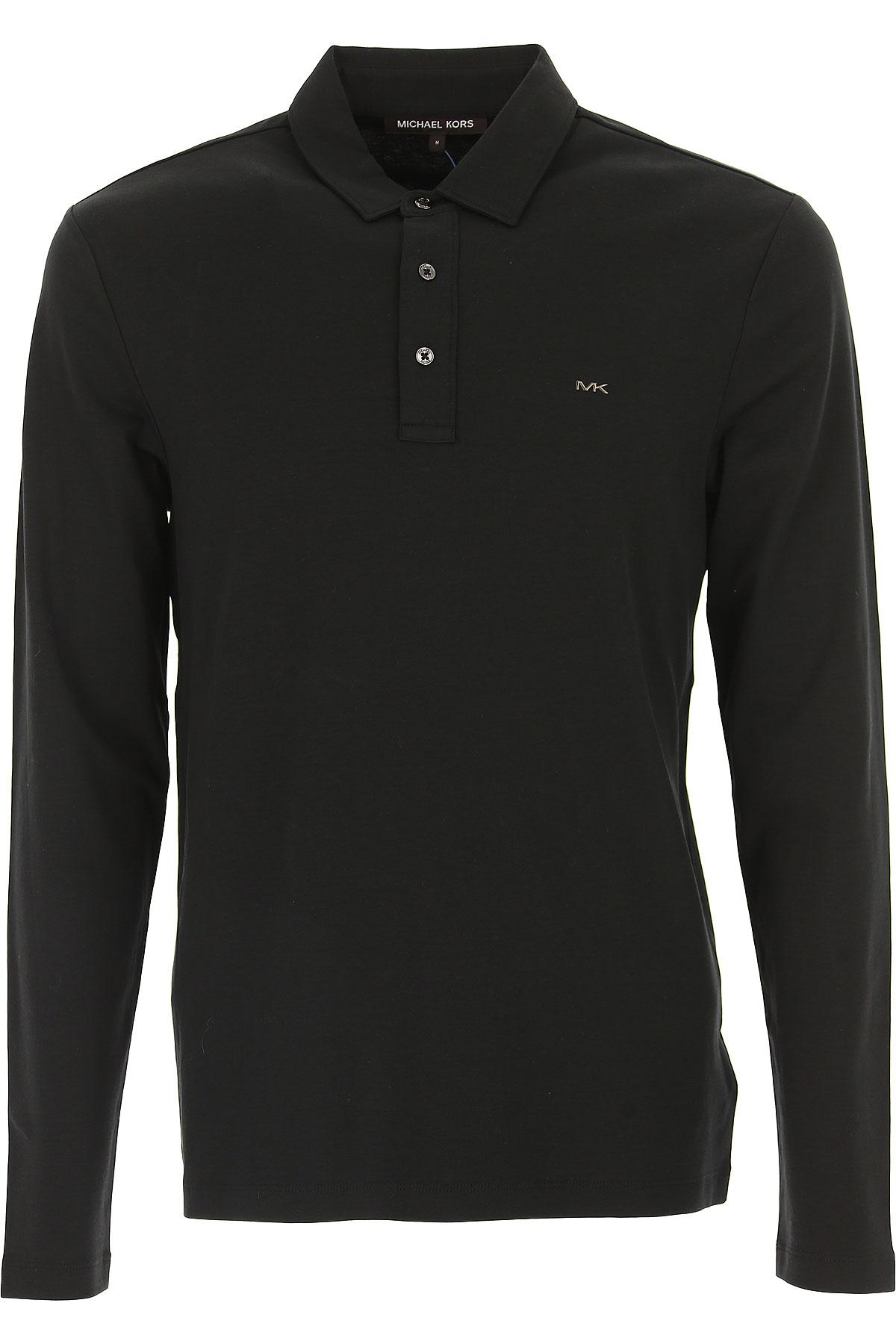 Michael Kors Camiseta de Hombre Baratos en Rebajas Outlet, Negro, Algodon, 2017, L M XL