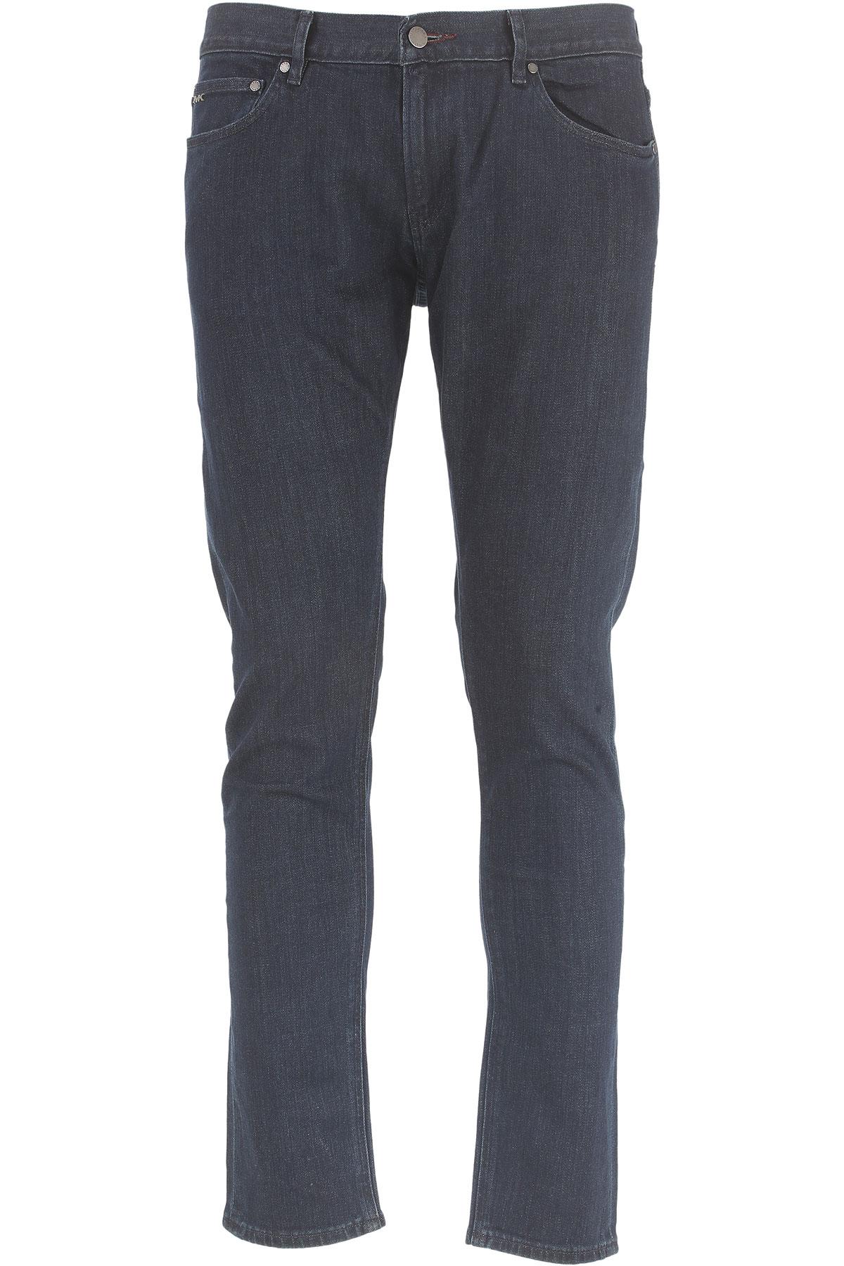 Michael Kors Vaqueros de Hombre, Pantalones Vaqueros Baratos en Rebajas Outlet, Azul Oscuro, Algodon, 2019, 47 48 50