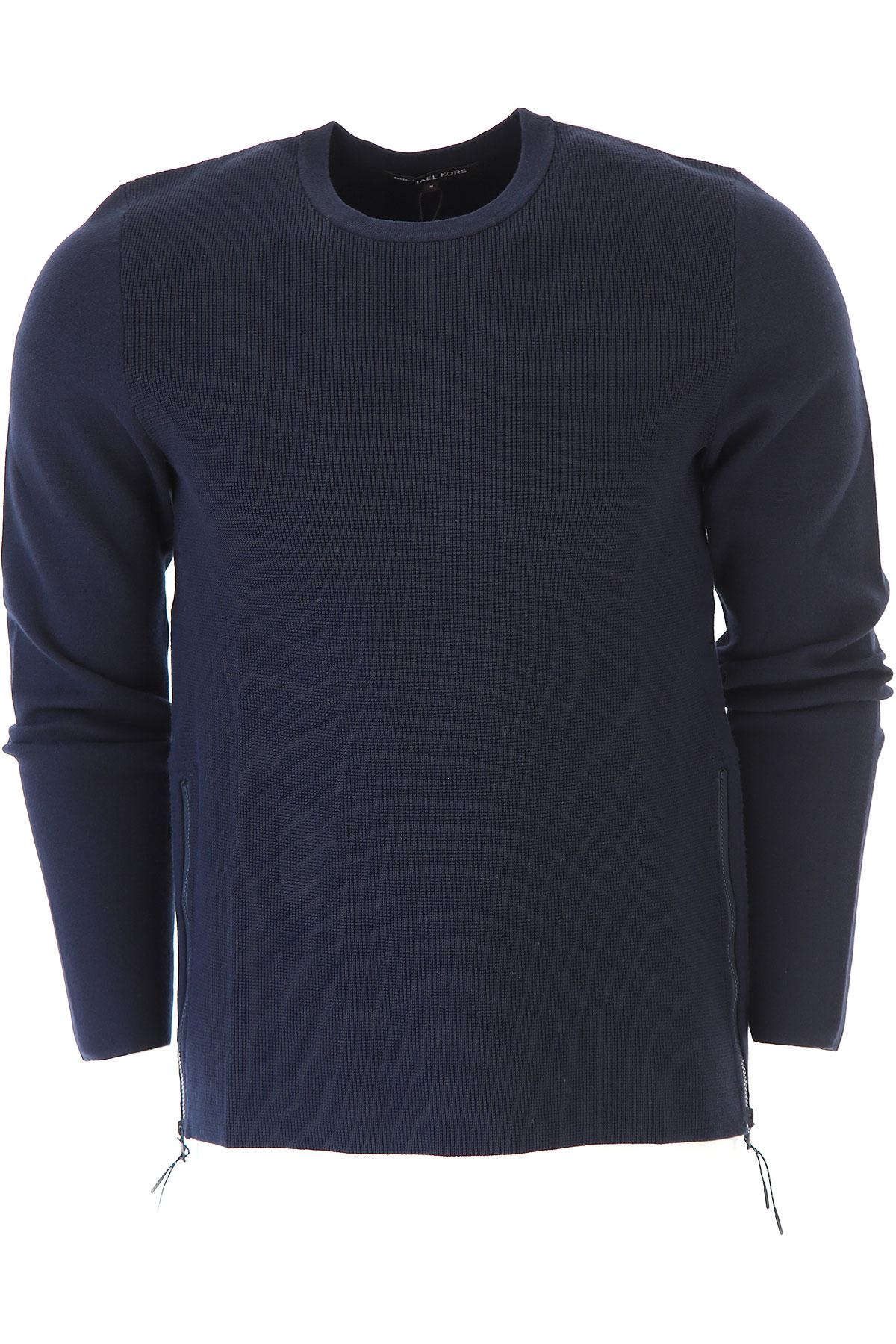 Michael Kors Sweater for Men Jumper, Midnight, Viscose, 2019, L M S XL