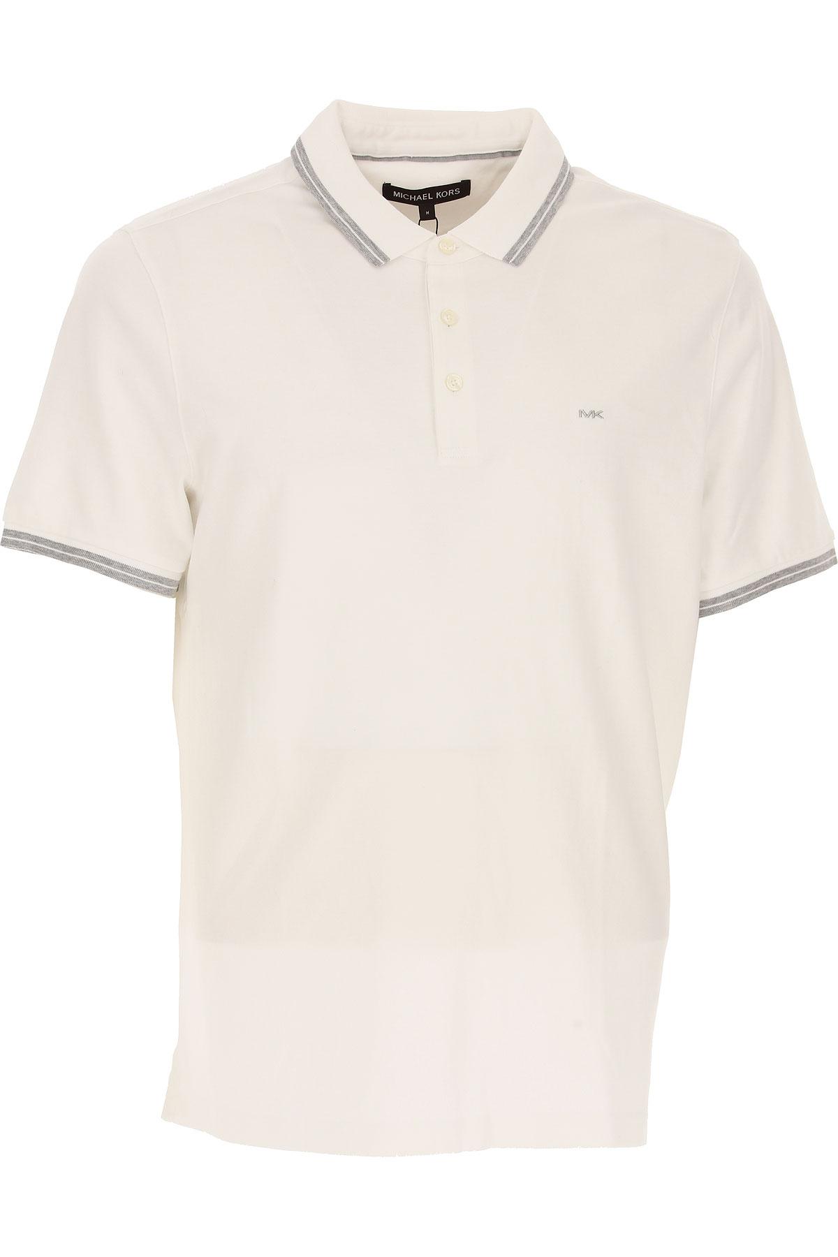 Michael Kors Polohemd für Herren, Polo-Hemd, Polo-Shirt Günstig im Outlet Sale, Weiss, Baumwolle, 2017, M S XL XXL